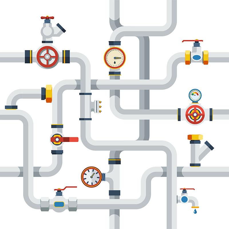 ایجاد خطوط لوله آب و گاز