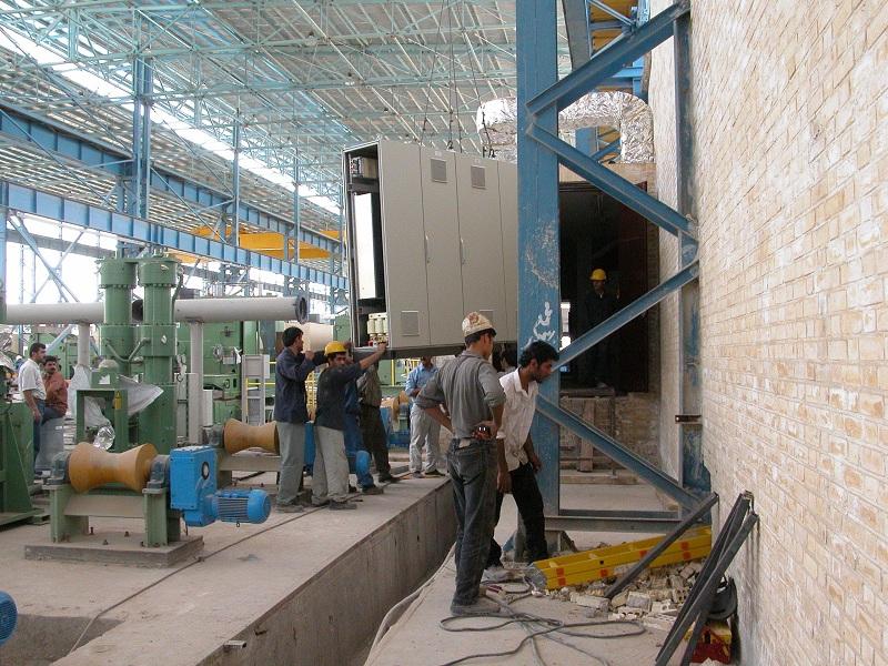 نصب تابلوهای برق وPLCخط تولید لوله های۵۶اینچ